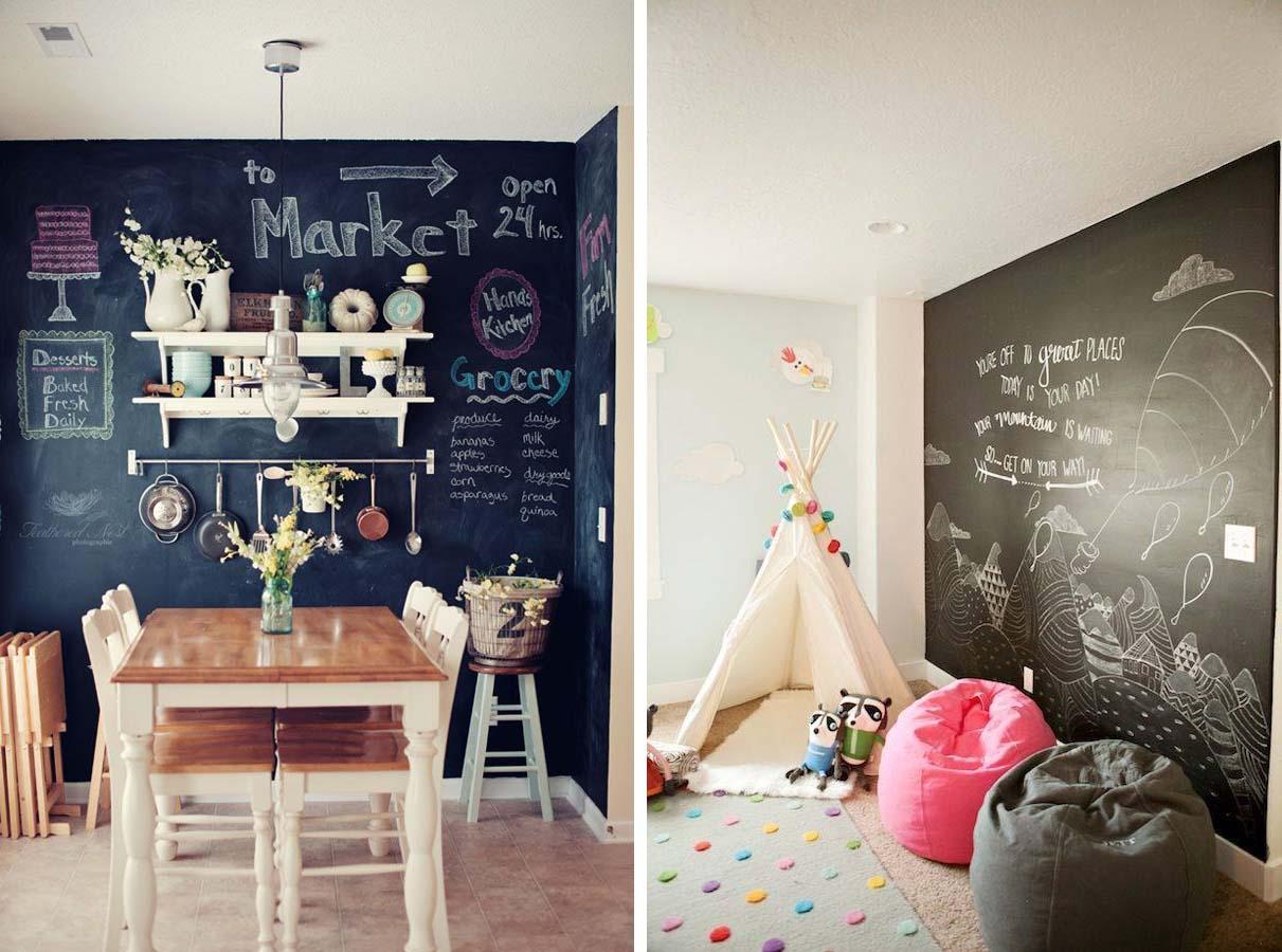 Pareti design pareti in prospettiva soluzioni - Parete lavagna cucina ...